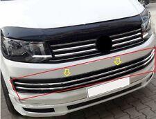 Chrom Kühlergrill Leisten VW T6 Transporter ab 2015 Edelstahl 6 teilig ( Unten )