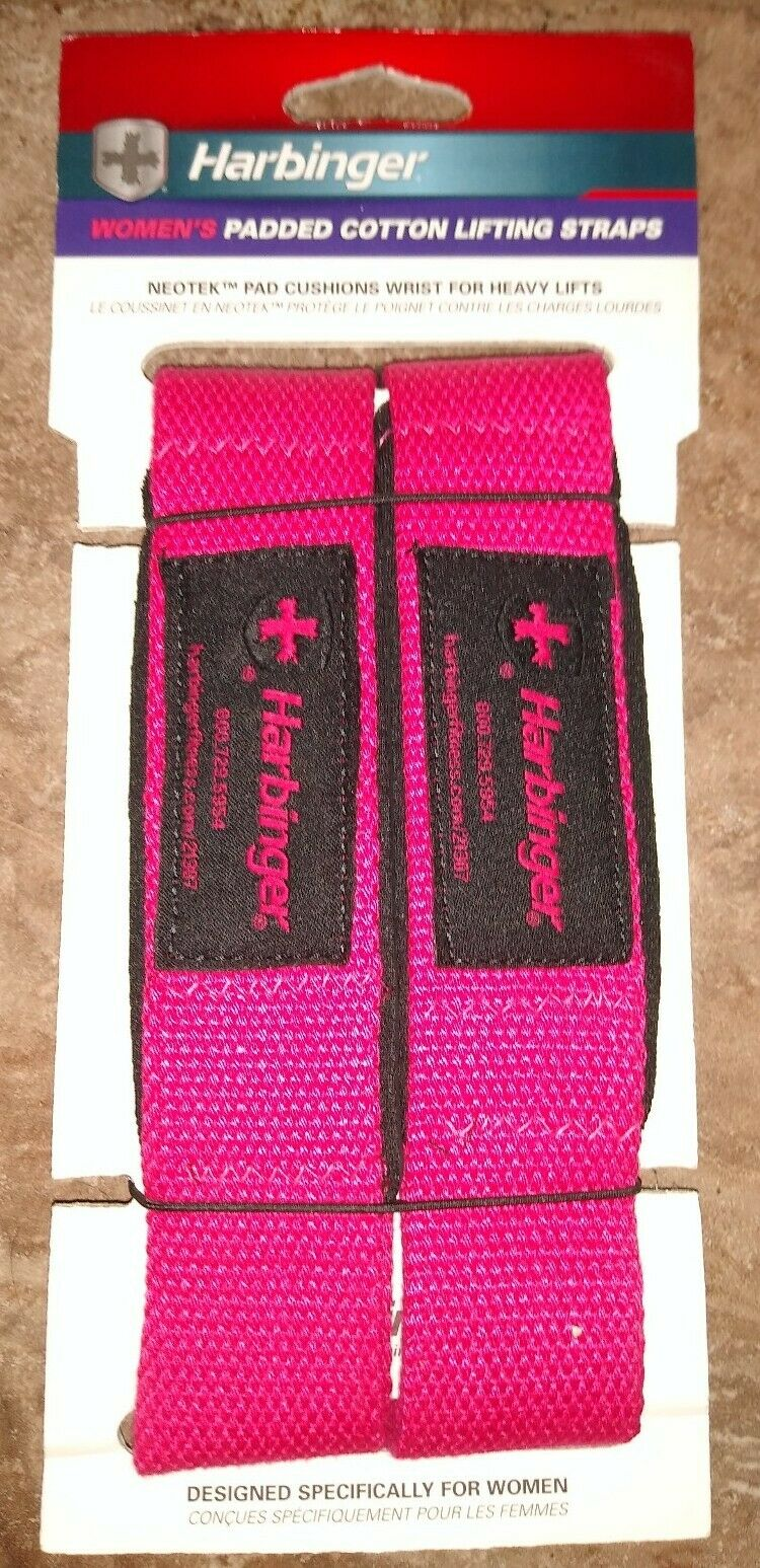 Pink Harbinger Women/'s Padded Cotton Weight Lifting Straps