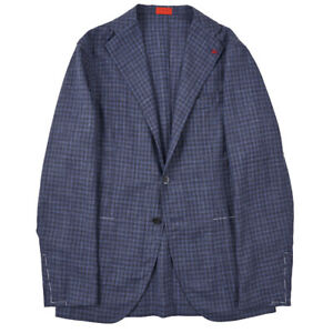 NWT-2895-ISAIA-Unlined-Lightweight-Wool-Silk-Linen-Sport-Coat-38-R-Slim-Fit