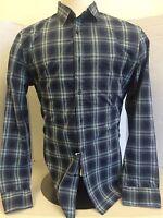 Men's Wallin & Bros Blue Long Sleeve Button Up Shirt Sz S Ij