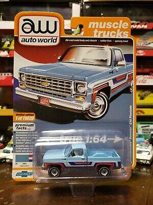 1976 Chevrolet Bonanza C-10 Fleetside *RR* Auto World Muscle Truck 1:64 NEU+OVP