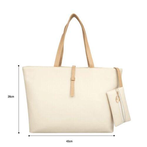New Women PU Leather Handbag Shoulder Bag Lady Tote Messenger Hobo Satchel Purse