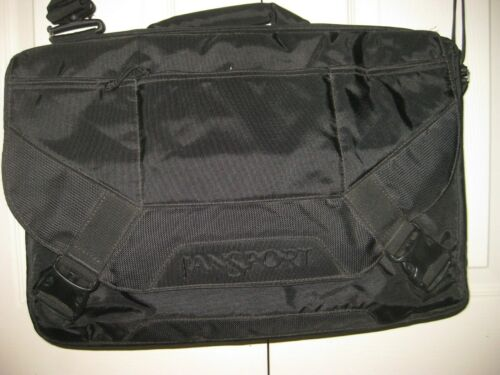 JANSPORT: black  MESSENGER BAG/ BACKPACK