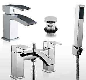 modern descent chrome bathroom taps sink basin mixer bath filler