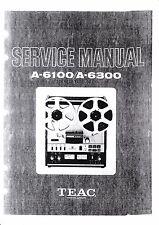 Service Manual-Anleitung für Teac  A-6100,A-6300