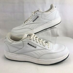 bff295db7d42b Reebok CL Ace Classic White Leather Tennis Court Athletic Shoes Mens ...