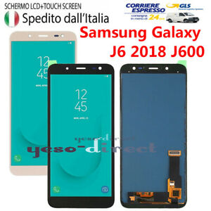 DISPLAY LCD+TOUCH SCREEN SAMSUNG GALAXY J6 2018 SM-J600FN J600 VETRO SCHERMO 24H