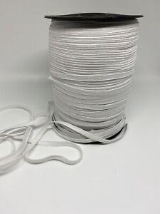 1 4 Inch Soft White Knit Elastic 10 Yards Face Mask Elastic