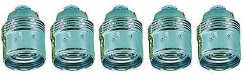 5x Fassung E27 Metall Glattmantel chrom Leuchte Lampe Ersatz