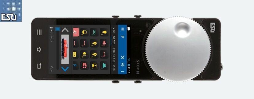 Esu 50113 Móvil Control II Funkhandregler Set para Ecos con Accesspoint Nuevo