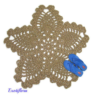 Flower Or Star Jute Rug Made To Order