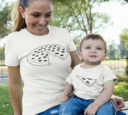 Mommy And Me Outfits Mum Mother Daughter Son Family Matching T Shirt Pizza Shirt