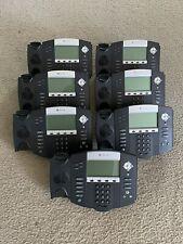Lot Of 7 Polycom Soundpoint Ip 550 2201 12550 001 Phones