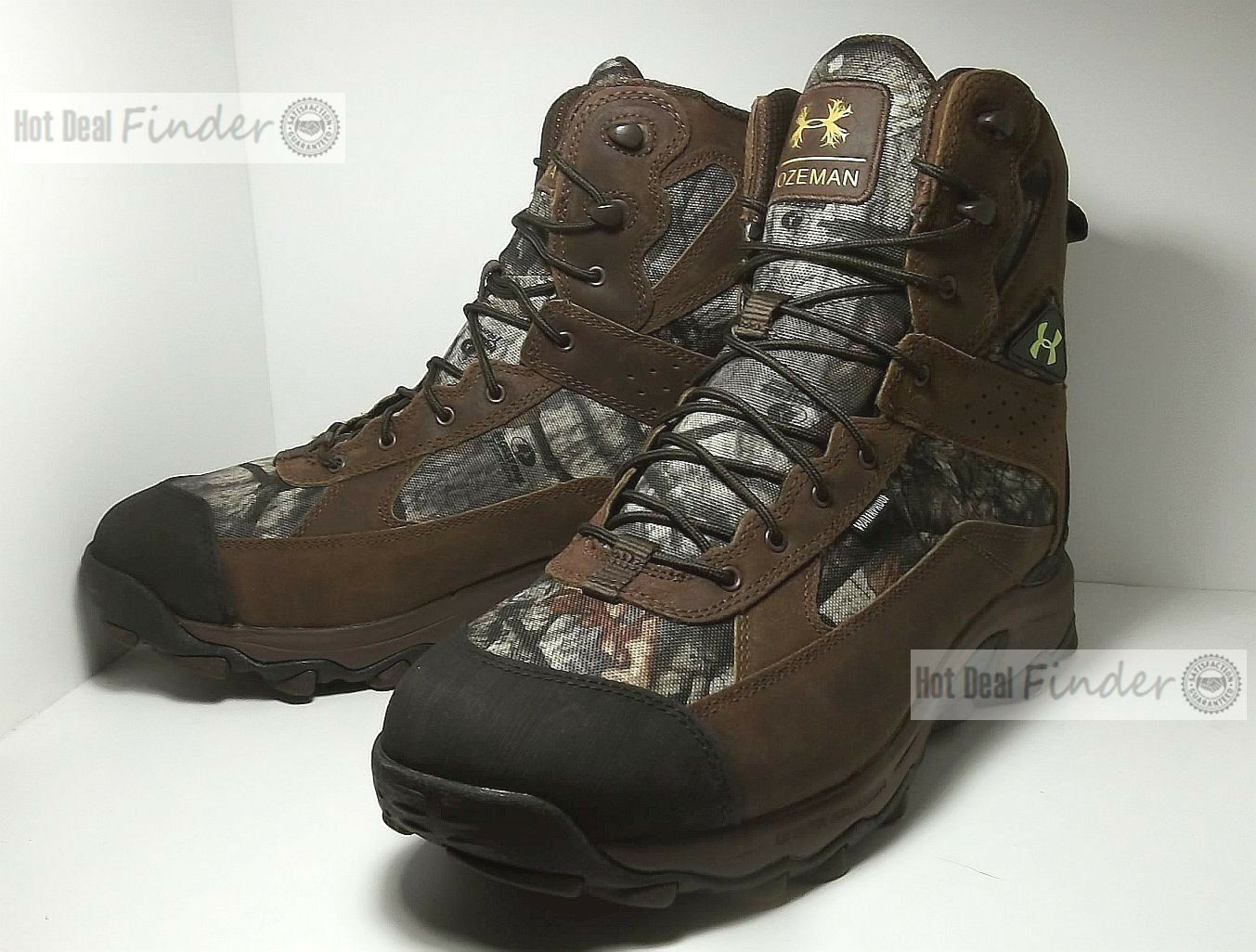 NEW UNDER ARMOUR BOZEMAN = Größe 12 = WATERPROOF CAMO herren Stiefel 1262055-905