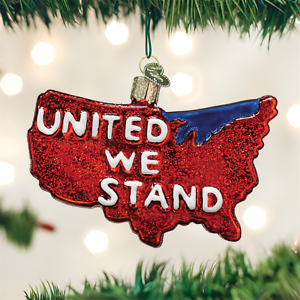 United-We-Stand-USA-Patriotic-Glass-Ornament-Old-World-Christmas-NEW-IN-BOX