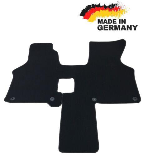 Fußmatte VW T4 2 Sitzer Automatik SCHWARZ Premium Hochwertig Velours Rand