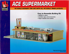HO Scale Walthers Life-Like 433-1330 Ace Super Market Building Kit