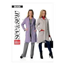 BUTTERICK SEWING PATTERN SEE & SEW MISSES' SWEATER JACKET & COAT SXM-XXL B6406