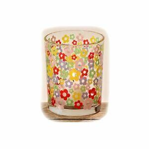 Boltze-Windlicht-Flower-Brila-Kerzenleuchter-Teelichthalter-Dekoglas-Blumen-Neu