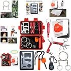 Outdoor Camping Hiking Survival Emergency Wilderness Tactical Tools Gear Kit Red