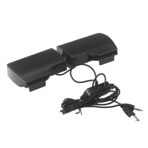 Tragbarer Mini USB Stereo Lautsprecher fuer Notebook Laptop MP3 Telefon Mus J6Y5