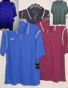 NIKE-Mens-Polo-Golf-Shirt-M-L-XL-2XL-4XL-Blue-Black-Maroon-Gray-Green-NEW-Men