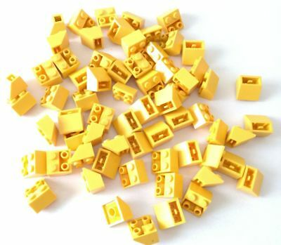 Lego 65x Brick Inclinati Slope Invertite 2x2 Giallo Lotto Sped Gratis + Acquisti