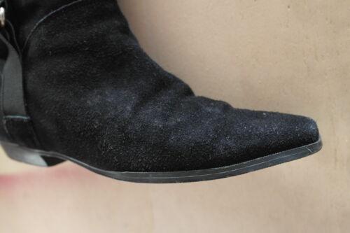 True Vintage 38 Boots Schwarz Stiefel Overknees Jeronimo Damen Esclapez Schuhe 04Z6x8