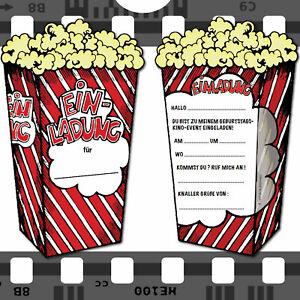 einladungskarten kino - kindergeburtstag kinder party