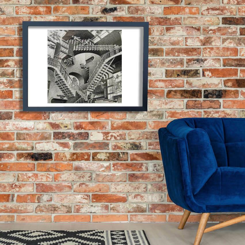 M C Escher - Relativity Wall Art Poster Print