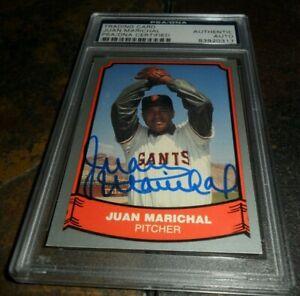 Juan Marichal Signed 1988 Pacific Card #54 SAN FRANCISCO Giants Auto PSA/DNA