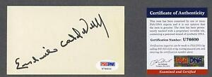 Erskine-Caldwell-signed-3x5-index-card-Psa-authenticated