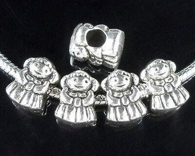 25pcs Tibetan Silver Bulk Boy Charm Beads Fit European Bracelet ZY102