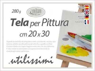 quadrati per pittura ad olio Confezione da 10 mini pannelli di tela allungati N//A 5 x 7 cm