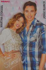 Martina Stoessel & Jorge Blanco-AUTOGRAFO carta-autograph autografo skinning