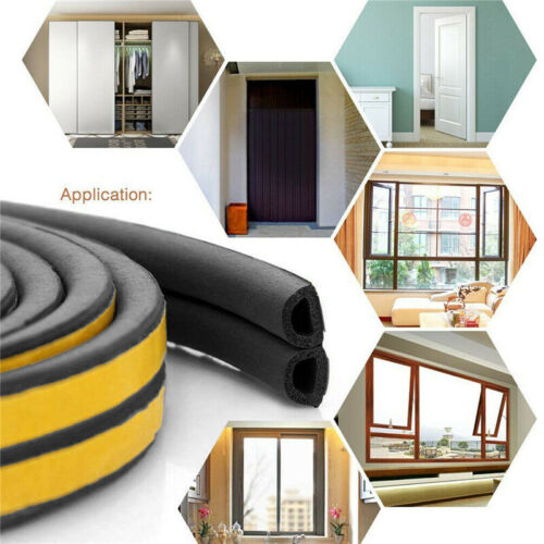 Draught Draft Excluder Self Adhesive Rubber Door Window Seal Strip Roll Tape