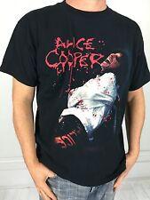 vtg 2006 ALICE COOPER CONCERT T Shirt black metal rock band tour L