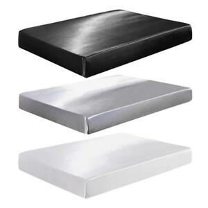 Solid-Color-Simulation-Silk-Room-Mattress-Bed-Cover-Waterproof-Protector-Pad