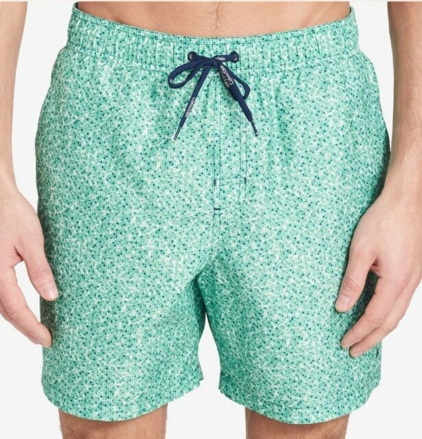 cd64735aef Calvin Klein Drawstring Spruce Green Patterned Swim Trunks M Men $52  FreeShip