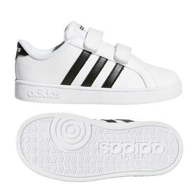Shoes Adidas AW4321 Baseline Cmf Inf Child Girl New Original White Black | eBay