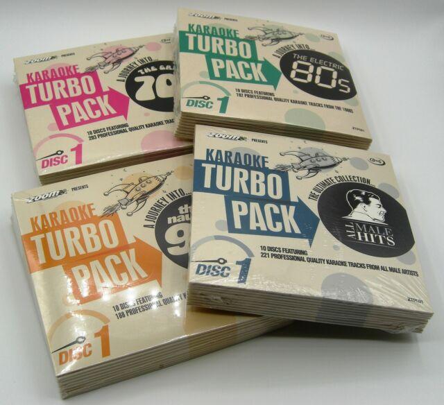 Zoom KARAOKE Turbo Pack Collection - 775 Massiccia KARAOKE preferiti su 40 CD + GS