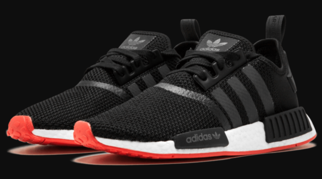 Brand New adidas NMD R1 BlackCarbon Trace Scarlet Men's