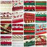 christmas fat quarter bundles craft fabric 100 % cotton red green ivory