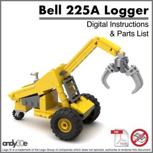 Lego Moc Log Handler I Pdf Instructions Uniquement Je Ville City Forest Farm Skidder-afficher Le Titre D'origine