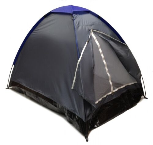 Two Man GRAPHITE BLUE Sealed Bottom NEW GRAY DOME CAMPING TENT 7x5/' 2 Person