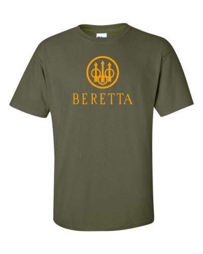 Beretta Orange Logo T-Shirt 2nd Amendment Pro Gun Brand Firearms Rifle Tee New