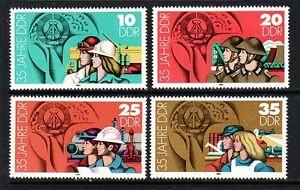 Germany-DDR-2438-41-MNH-OG-1984-35th-Anniversary-of-The-Republic-Full-Set-VF