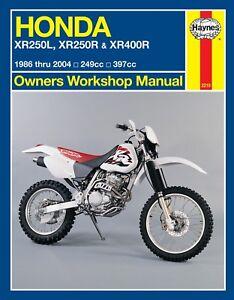 Haynes-Manual-2219-Honda-XR250L-XR250R-amp-XR400R-1986-2004-service-repair