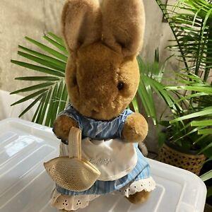 Vintage Eden MRS RABBIT Plush Beatrix Potter Peter Rabbit Plush Toy Stuffed