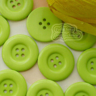 Lawn Green 4 Holes Plastic Buttons Sewing Cardmaking Scrapbooking 17mm,27mm,33mm